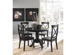 dark wood dining room set with leg table costa dorada collection