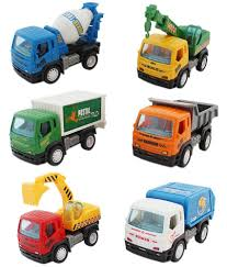 100 Trucks Cartoon Tootpado Pull Back Toy Construction Set Of 6 Buy