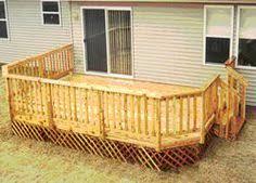 Menards Cedar Deck Boards by 16 U0027 X 18 U0027 Deck W Deck Solid Deck Board Apron At Menards New Home
