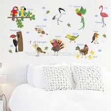 vögel wand aufkleber für kinderzimmer kindergarten kinder schlafzimmer dekoration pädagogisches pvc diy wand kunst wasserdichte poster buy
