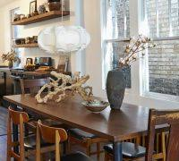 Dining Room Diy Ideas Contemporary With Mad Men Office Decor Mismatched Chairs