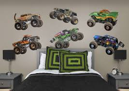 Monster Jam: Cartoon Trucks Collection - Large Officially Licensed ... Cars Wall Decals Best Vinyl Decal Monster Truck Garage Decor Cstruction For Boys Fire Truck Wall Decal Department Art Custom Sticker Dump Xxl Nursery Kids Rooms Boy Room Fire Xl Trucks Stickers Elitflat Plane Car Etsy Murals Theme Ideas Racing Art