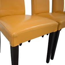 85% OFF - Custom Leather Dining Chairs / Chairs