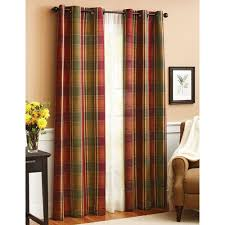 better homes and gardens plaid window panel walmart com