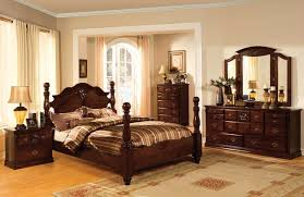 Tuscan II Classic Traditional Poster Bed Dark Pine Bedroom