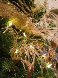 Any Christmas Tree Cedar Or Artificial Can Benefit From Some Ecologically Conscious Decorations Dried Grass And Seed Heads Of Prairie Plants Look Magical