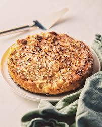 apfel marzipan kuchen mit mandeln