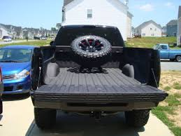 Bed mounted spare tire carrier Chevy Truck Forum