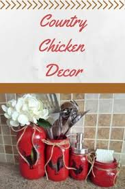 Chicken Decor Kitchen Set Red By CountryHomeandHeart