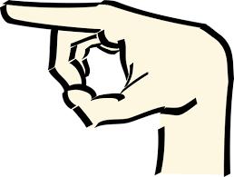 3049 vintage pointing finger clip art