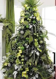 Christmas Tree With Lime Green Decorating Idea