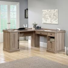 L Shaped Computer Desk With Hutch by Sauder Barrister Lane L Shaped Desk The Sauder Barrister Lane L