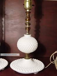 Vintage Fenton hobnail milk glass lamp shade replacement