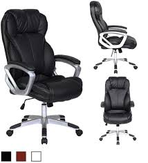 Executive PU Leather Office Chair - 2xhome - Modern And Contemporary ... Boss Executive Button Tufted High Back Leatherplus Chair Bosschair China Adjustable Office Hxcr018 Guide How To Buy A Desk Top 10 Chairs Highback Modern Style Ergonomic Mesh Lovely Chesterfield Directors Oxblood Leather Captains Black Swivel With Synchro Tilt Shop Traditional Free Shipping Luxuary Mulfunctional Luxury Huntsville Fniture