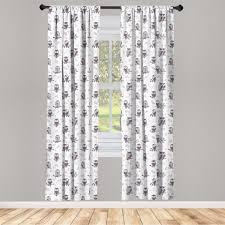 gardine fensterbehandlungen 2 panel set für wohnzimmer schlafzimmer dekor abakuhaus tier eulen auf dem ast kaufen otto