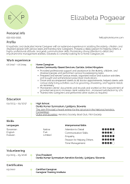 Resume Examples By Real People: Home Caregiver Resume ...