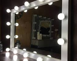 Makeup Vanity Table With Lights And Mirror by Vanity Mirror Etsy