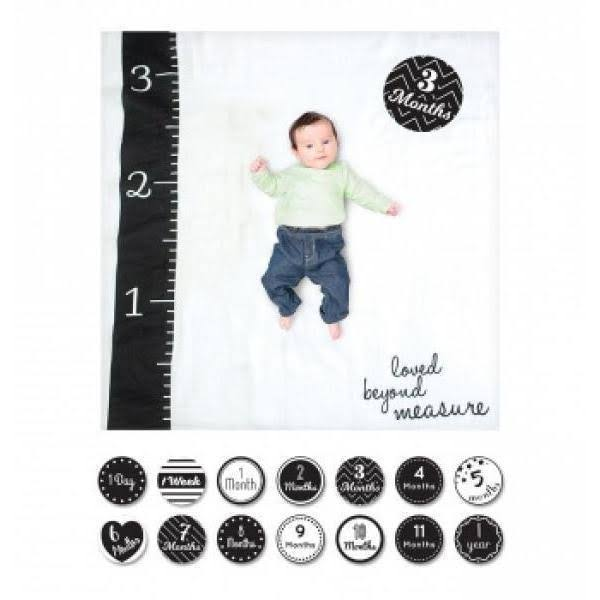 Lulujo Baby Baby's First Year Milestone Blanket and Cards Set - Loved Beyond Measure