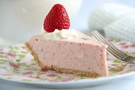 A slice of whipped strawberry pie