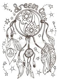 Dream On Catcher Adult Colouring Page Digital Download