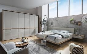 schlafzimmer barcelona in bianco eiche nachbildung farbglas chagner ca 160 x 200 cm