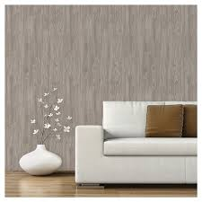 Devine Color Peel And Stick Wallpaper Textured Driftwood Pattern