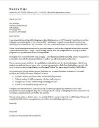 Admissions Counselor Cover Letter