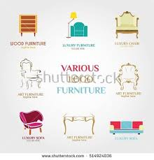 Furniture Logo Design Template Vector Illustration With Flat Style