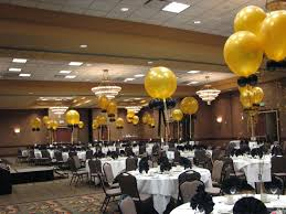 Comely Accessories For Wedding Table Design And Decoration Using Gold Balloon Decor Including Black Ribbon Chair White