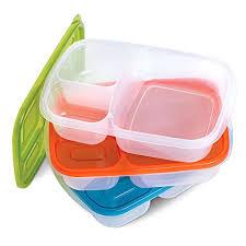 3 Pcs Bento Box Set Ergonomic Lunch Boxes Easy Open Airtight Lids