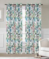 Sheer Curtain Panels With Grommets by Flora Set Of 2 Faux Linen Sheer Curtain Panels With Grommets