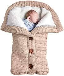 baby schlafsack für kinderwagen gestrickt schlafsack süße samt warme tasche pucksack stricken wickeln abnehmbare ärmel strick decke schlafsack swaddle