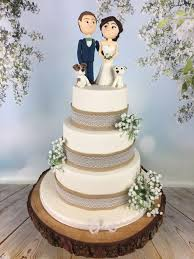 Rustic Wedding Cake Bride And Groom Topper
