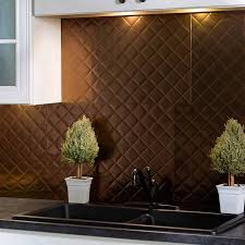 fasade backsplash quilted in rubbed bronze