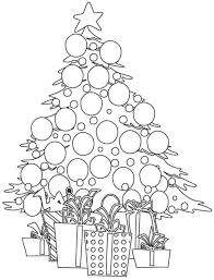 Christmas Tree And Presents Coloring Pages