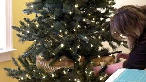 Plastic Wrap Your Christmas Tree by Add Deco Mesh To Christmas Tree Part 3 Youtube