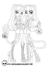 Coloring Color Pages Monster High 17 Pictures To