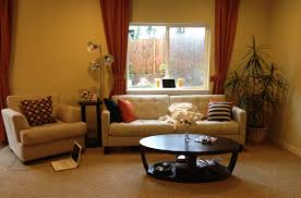lovely yellow walls curtains decorating with living room