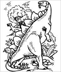 Printable Dinosaur Coloring Page Lots Of Online Games And Quizzes About Dinosaurs
