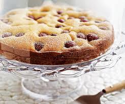Red Grape Polenta Olive Oil Cake