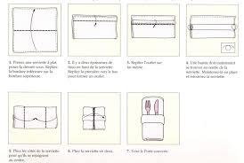 pliage serviette papier porte couvert inspirations avec lart de