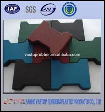 Rubber For Patio Paver Tiles by Dog Bone Rubber Patio Paver Tile Ourdoor Rubber Driveway Mats