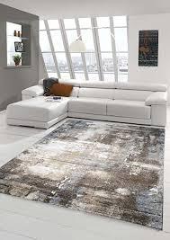 designer teppich moderner teppich wohnzimmer teppich barock design steinmauer optik in braun beige grau creme meliert größe 200 x 290 cm