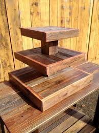 Reclaimed Wood Cupcake Stand