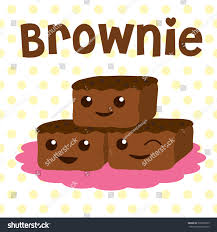brownie cute cartoon vector sweet