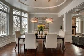 Rich Cream White Dining Room With Round Ceiling