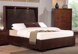 King Platform Bed With Leather Headboard by Modern Minimalist California King Platform Bed Frame With Lighting