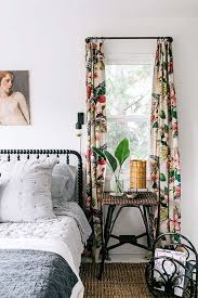 Home Decor Interior Design Floral Curtain Fern Palm