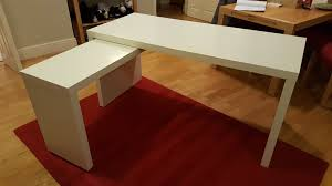 Ikea Malm Desk White by Ikea Malm Desk With Pull Out Panel White 151 X 65cm In Ipswich