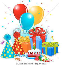Birthday Gifts And Decoration Vector